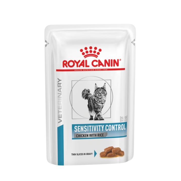 Лечебный влажный корм для котов Royal Canin Sensitivity Control Chicken & Rice Feline 85 г