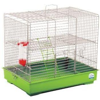 Клетка для мелких декоративных грызунов Природа Микки с лесенкой, белый
