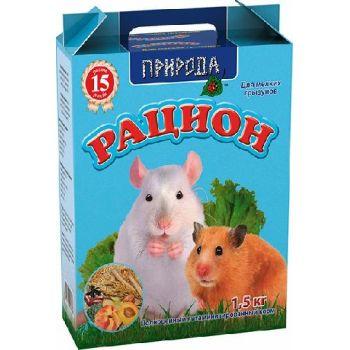 Корм для мелких грызунов Природа Рацион 1,5 кг