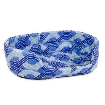 Лежак для собак Природа C1, синий, 90х80х22 см