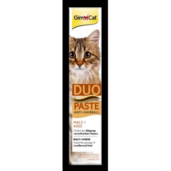 Паста для кошек GimCat Duo Paste Anti-Hairball Malt + Cheese 50 г