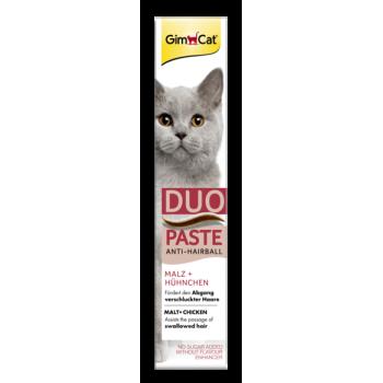 Паста для кошек GimCat Duo Paste Anti-Hairball Malt + Chicken 50 г