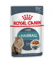 Акция 8+4! Влажный корм для кошек Royal Canin Hairball Care Sauce 85 г х 12 шт