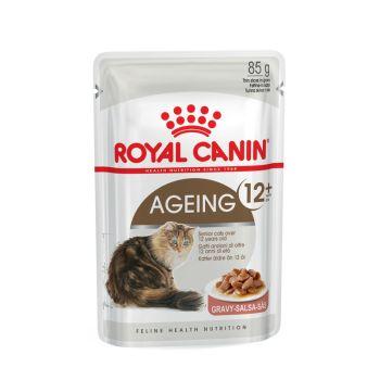 Акция 8+4! Влажный корм для кошек Royal Canin Ageing 12+ Sauce 85 г х 12 шт