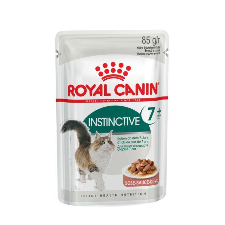 Акция 8+4! Влажный корм для кошек Royal Canin Instinctive 7+ Sauce 85 г х 12 шт