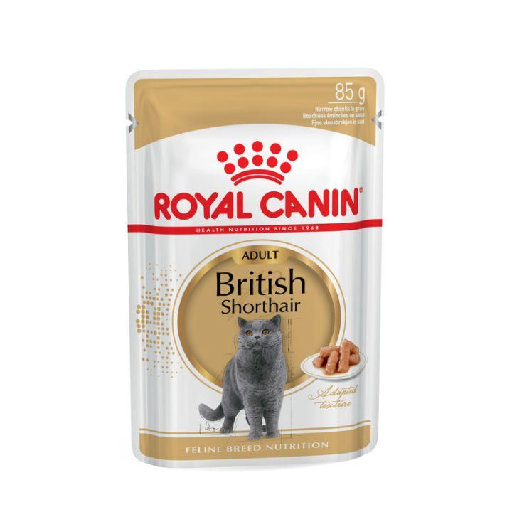 Акция 8+4! Влажный корм для кошек Royal Canin British Shorthair Adult 85 г х 12 шт