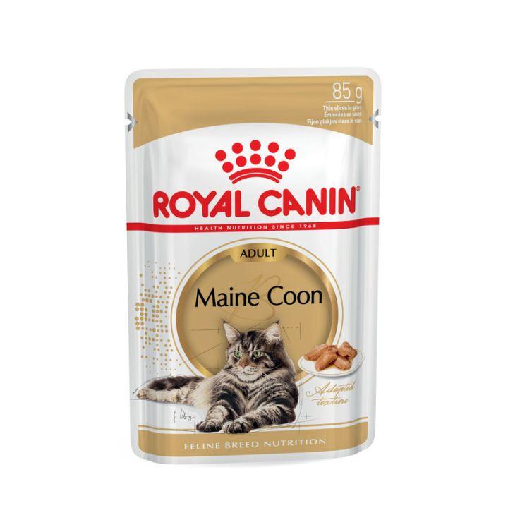 Акция 8+4! Влажный корм для кошек Royal Canin Maine Coon Adult 85 г х 12 шт