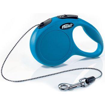 Поводок-рулетка Flexi New Classic Cat XS, 3 м, трос, синий