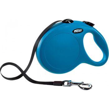 Поводок-рулетка Flexi New Classic L, 8 м, лента, синий