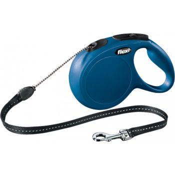 Поводок-рулетка Flexi New Classic M, 8 м, трос, синий