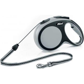 Поводок-рулетка Flexi New Comfort M, 8 м, трос, серый