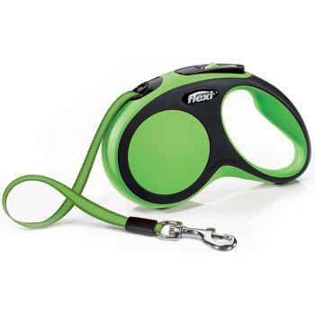 Поводок-рулетка Flexi New Comfort S, 5 м, лента, зеленый