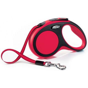 Поводок-рулетка Flexi New Comfort S, 5 м, лента, красный
