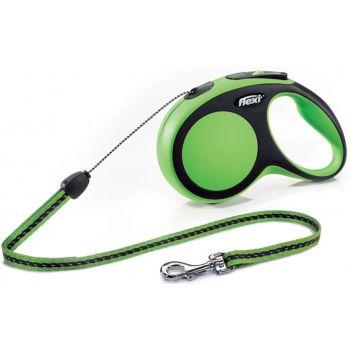 Поводок-рулетка Flexi New Comfort S, 8 м, трос, зеленый