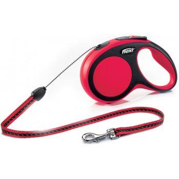 Поводок-рулетка Flexi New Comfort S, 8 м, трос, красный