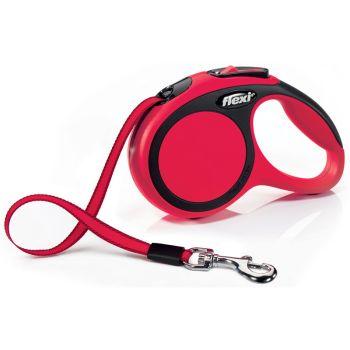 Поводок-рулетка Flexi New Comfort XS, 3 м, лента, красный