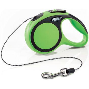 Поводок-рулетка Flexi New Comfort XS, 3 м, трос, зеленый
