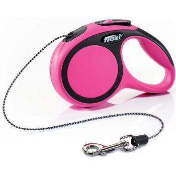 Поводок-рулетка Flexi New Comfort XS, 3 м, трос, розовый