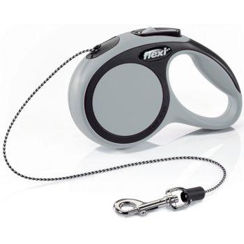 Поводок-рулетка Flexi New Comfort XS, 3 м, трос, серый