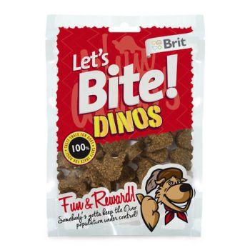 Тренировочные лакомства для собак Brit Let's Bite Dinos 150 г