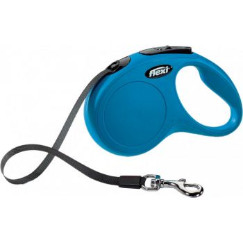 Поводок-рулетка Flexi New Classic S, 5 м, лента, синий