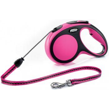 Поводок-рулетка Flexi New Comfort M, 5 м, трос, розовый