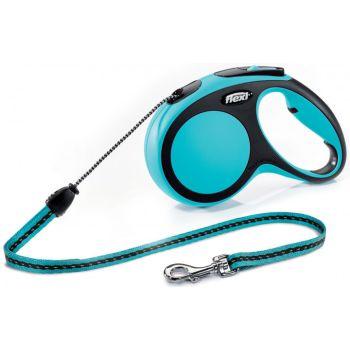 Поводок-рулетка Flexi New Comfort M, 5 м, трос, синий