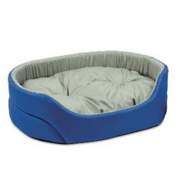 Лежак для собак Природа Омега, серо-синий, 80х58х19 см