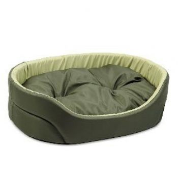 Лежак для собак Природа Омега, хаки/оливка, 80х58х19 см