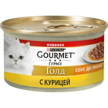 Влажный корм для кошек Purina Gourmet Gold Соус Де-Люкс с курицей 85 г