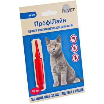 Капли на холку от блох и клещей Природа ProVet ПрофиЛайн для кошек весом до 4 кг
