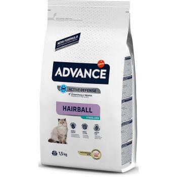Сухой корм для кошек Advance Sterilized Hairball 1,5 кг