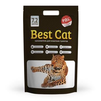 Силикагелевый наполнитель для кошачьего туалета Best Cat White 10 л