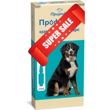 Капли на холку от блох и клещей ProVet ПрофиЛайн для собак весом от 20 кг до 40 кг 4 шт х 3 мл