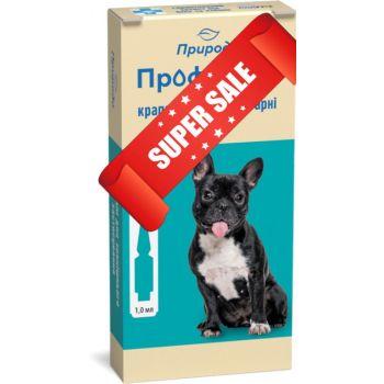 Капли на холку от блох и клещей ProVet ПрофиЛайн для собак весом от 4 кг до 10 кг 4 шт х 1 мл