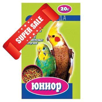 Витамины для молодых мелких и средних попугаев Природа Юниор Семена Мультивитамин 20 г