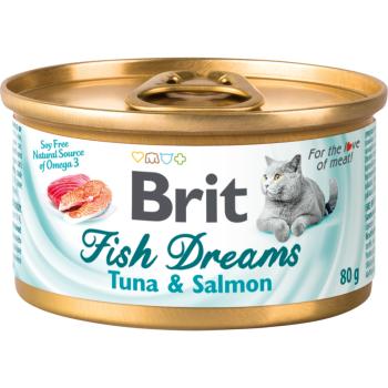 Влажный корм для кошек Brit Fish Dreams Tuna & Salmon 80 г