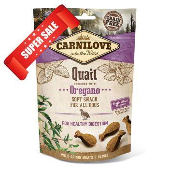 Лакомство для чувствительного пищеварения собак Carnilove Quail with Oregano For Healthy Digestion 200 г