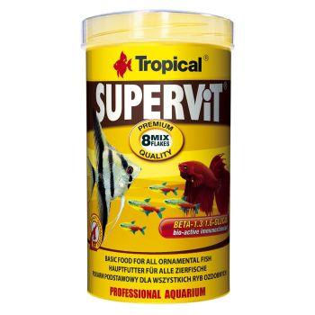 Сухой корм для аквариумных рыб Tropical в хлопьях «Supervit» 500 мл (для всех аквариумных рыб)