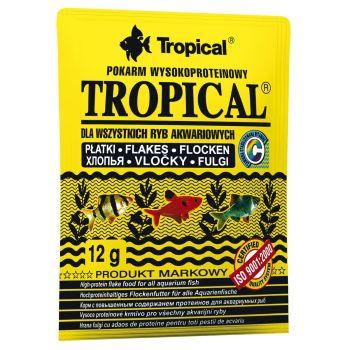 Сухой корм для аквариумных рыб Tropical в хлопьях «Tropical» 12 г (для всех аквариумных рыб)