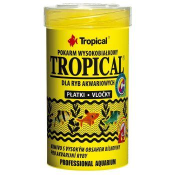 Сухой корм для аквариумных рыб Tropical в хлопьях «Tropical» 100 мл (для всех аквариумных рыб)