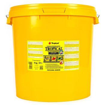 Сухой корм для аквариумных рыб Tropical в хлопьях «Tropical» 21 л (для всех аквариумных рыб)