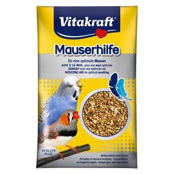 Витамины для волнистых попугаев и экзотических птиц Vitakraft «Mauserhilfe» семена 20 г (при линьке)
