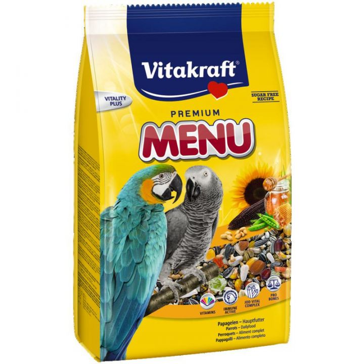 Корм для попугаев Ара Vitakraft Premium Menu 3 кг