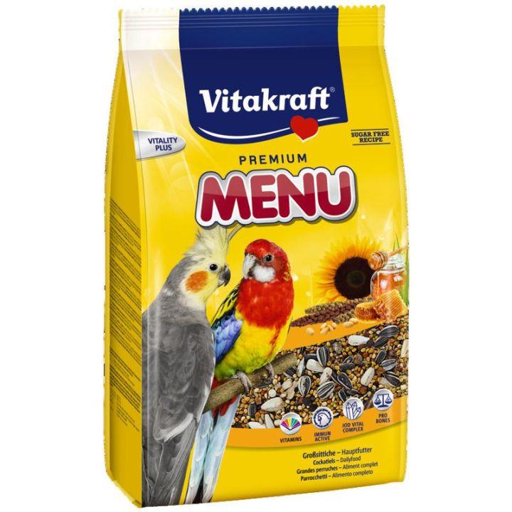Корм для нимф и больших попугаев Vitakraft Premium Menu 3 кг