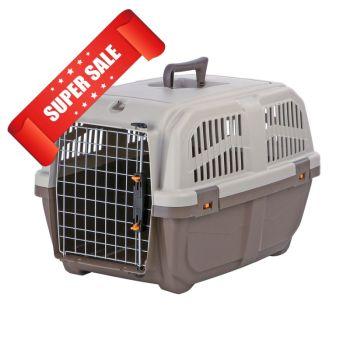 Контейнер-переноска для собак Trixie Skudo 3, 40x39x60 см, коричневая