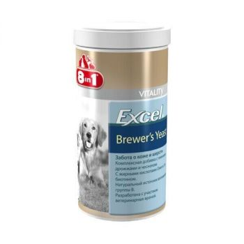 Пивные дрожжи 8in1 Excel «Brewers Yeast» 780 таблеток (для кожи и шерсти) - dgs