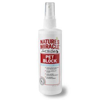 Спрей-отпугиватель для кошек Nature's Miracle «Pet Block Repellent Spray» 236 мл (для отпугивания от мест, объектов, зон)