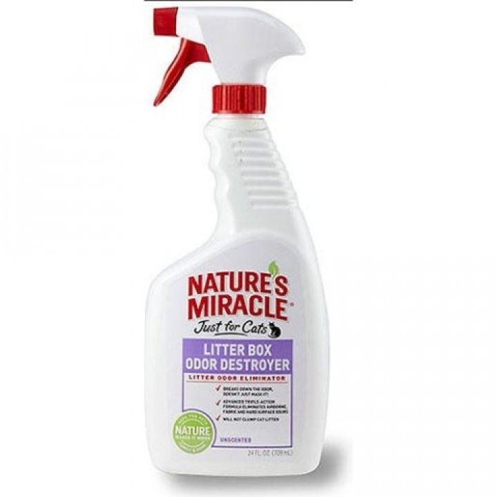 Спрей для устранения запаха кошачьего туалета 8in1 Natures Miracle Litter Box Odor Destroyer 709 мл