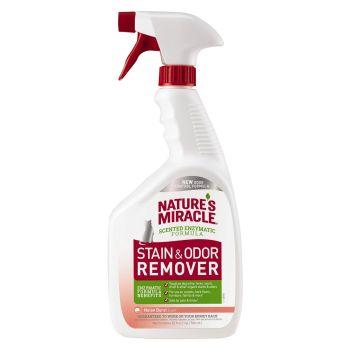 Спрей-устранитель Nature's Miracle «Stain & Odor Remover. Melon Burst Scent» для удаления пятен и запахов от кошек, с ароматом дыни 946 мл